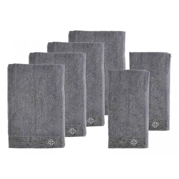 ZONE INU Spahåndklæder DELUXE 6 stk. - grå