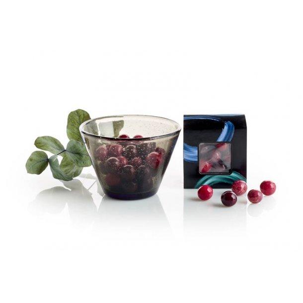 Lyngby glas skål m/chokoladekugler - sort