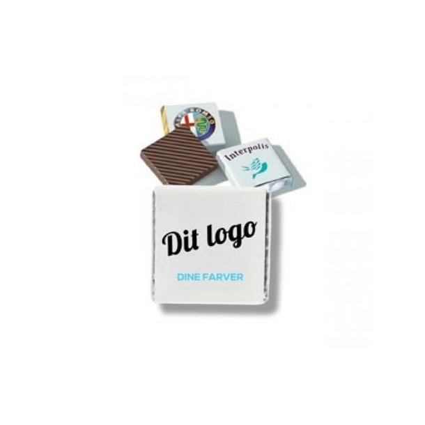 Chokoladeplade mini kvadrat - med dit logo